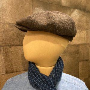 ARBORATOR-shop-online-Pike-Brothers-newboy-cap-1928-upland-brown-zijkant.jpg